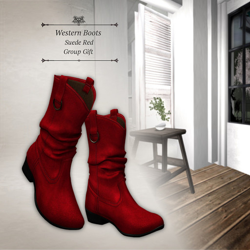 Western Suede Red Boo・・・
