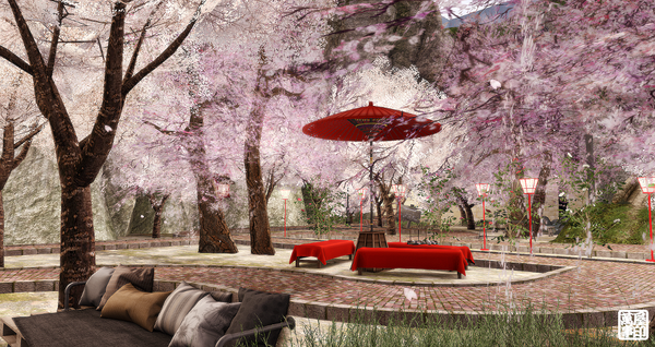 gardenに桜が咲きまし・・・