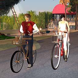 Landmarks 自転車とヨット