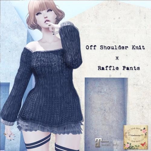 Off Shoulder Knit x R・・・